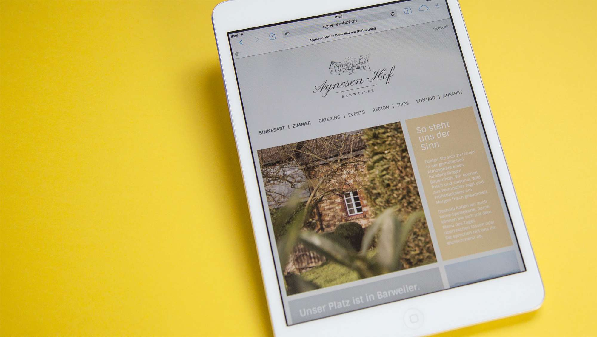 Agnesen Hof - Webentwicklung